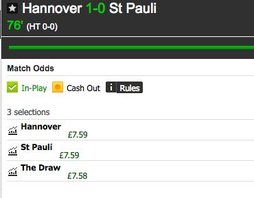 hanover lay the draw