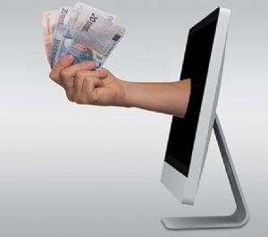 Computer and money image